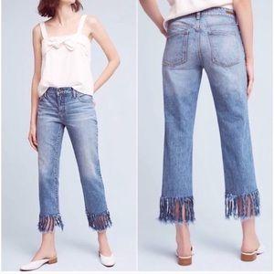 Anthropologie Pilcro Fringe Boyfriend Hyphen Jeans